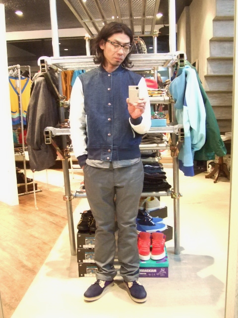 MDY DENIM VARSITY JACKET ST1