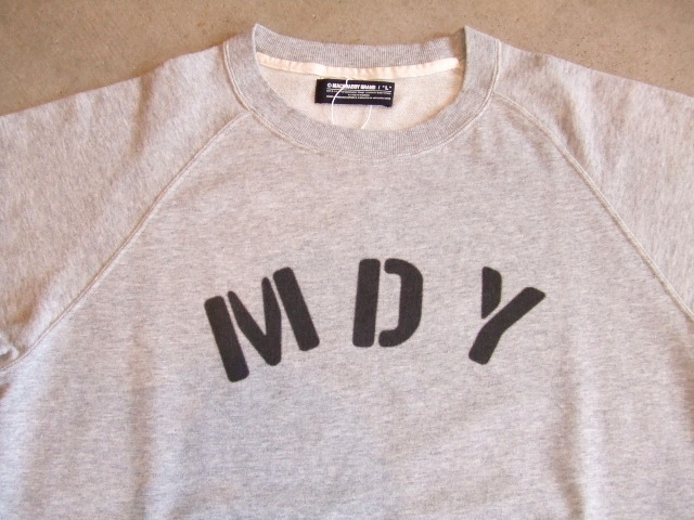 MDY RAGLAN SLEEVE CREW SWEAT TOPGRAY FT1