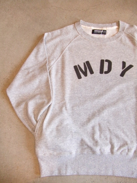 MDY RAGLAN SLEEVE CREW SWEAT TOPGRAY FT2