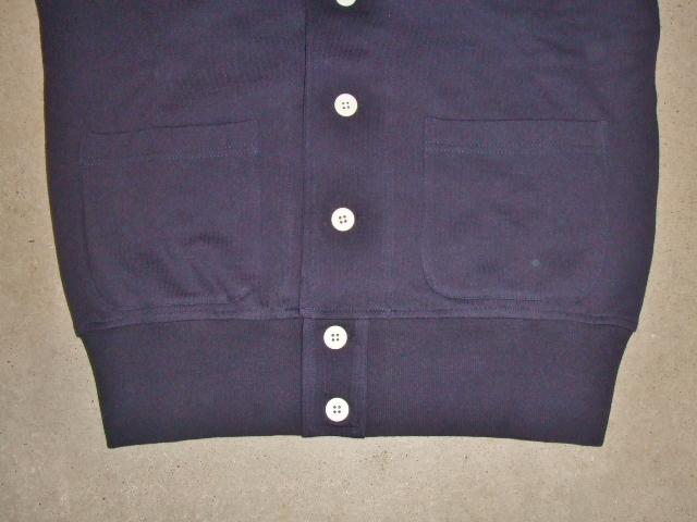 MDY SHAWL COLLAR SWEAT CARDIGAN NAVY FT2