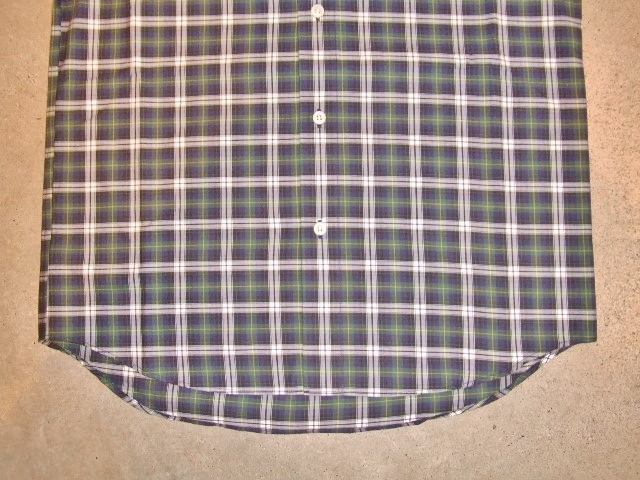 MDY CHAMBRAY COLLAR CHECK SHIRT GREEN FT2