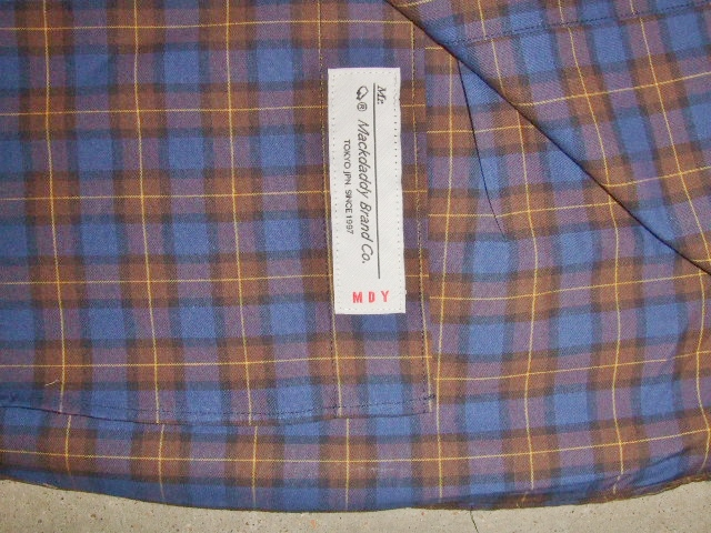 MDY CHAMBRAY COLLAR CHECK SHIRT NAVY TG