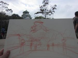 極楽橋を描いた