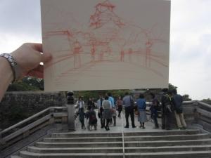 大阪城を描いた
