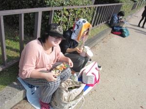 大阪城お昼