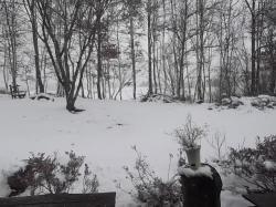 風の丘…外は雪