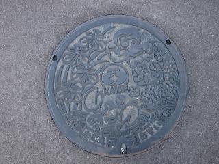 蟹江町のマンホールの蓋