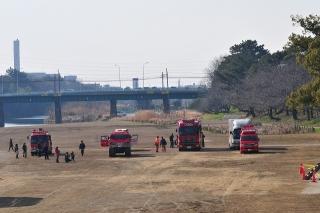 平成26年 岡崎市消防出初式 撤収風景