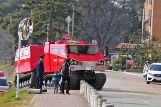 平成26年 岡崎市消防出初式 撤収風景 レッドサラマンダー(全地形対応車)