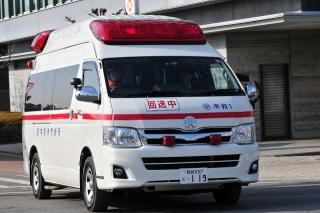 平成26年 岡崎市消防出初式 撤収風景 中救急1号車