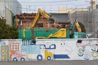 木造家屋解体現場