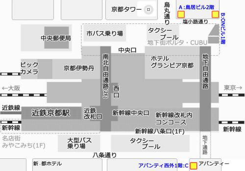 チケットショップ地図