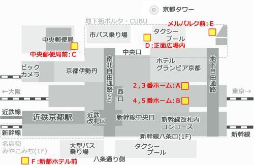 京都駅構内ポストの場所