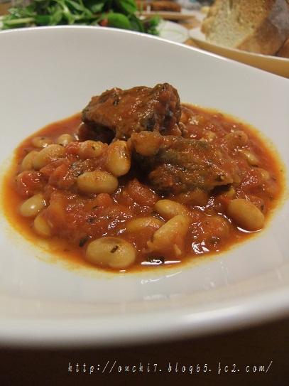 スペアリブと大豆のトマト煮