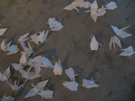 折り鶴(横)