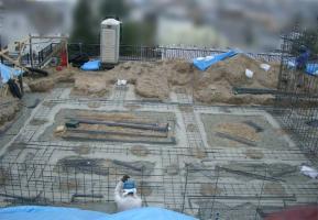 建築時の庭予定地の様子2
