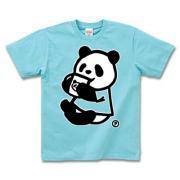 ノムノムパンダ 半袖Tシャツディープカラー