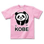 神戸のパンダ 半袖Tシャツディープカラー
