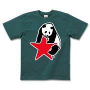 パンダ星 半袖Tシャツダークカラー