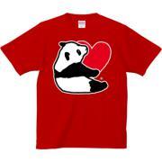 パンダのきもち 6.2oz Tシャツ-胸面 (濃色)