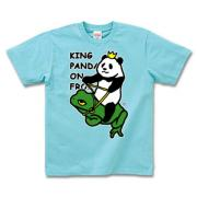 パンダ王の帰還 半袖Tシャツディープカラー