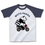 パンダミニバイク ラグラン半袖Tシャツ