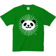 かがやきパンダ 6.2oz Tシャツ-胸面 (濃色)