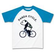 パンダの自転車 ラグラン半袖Tシャツ