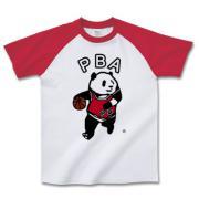 パンダバスケットアソシエーション ラグラン半袖Tシャツ