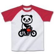 パンダバイクです。 ラグラン半袖Tシャツ