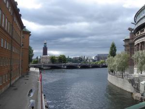 vieu du bateau stockholm
