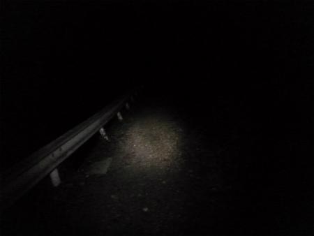 暗いなか出発