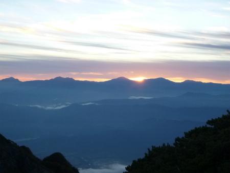 023北岳日の出