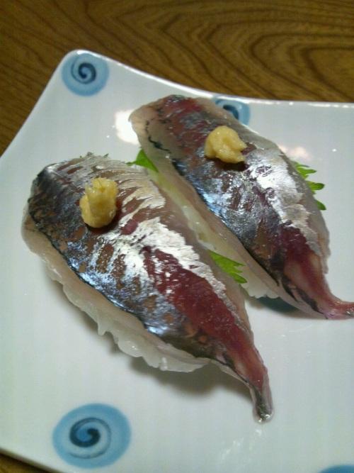 2012 1月21日 アジにぎり寿司