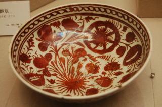 ラスター彩花文鉢 イラン17世紀