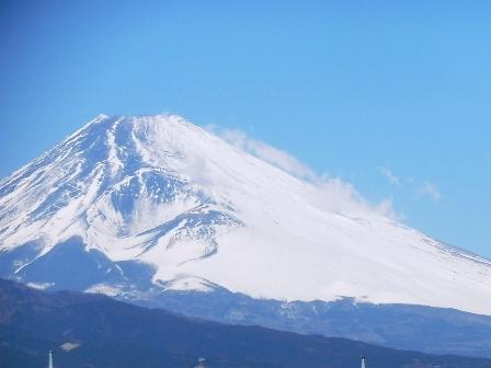 三島から見る富士山