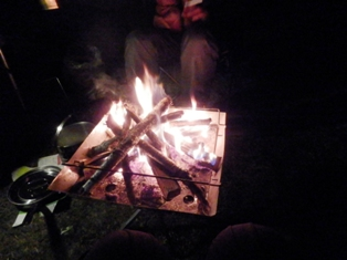 焚き火堪能。