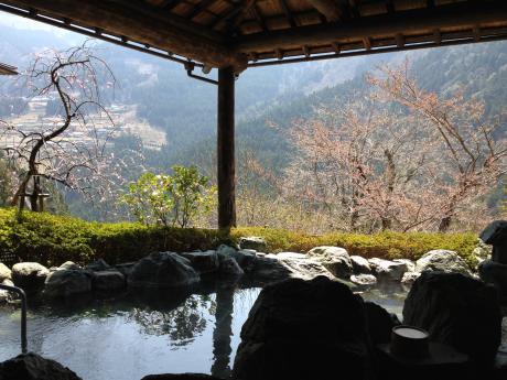 温泉と集落
