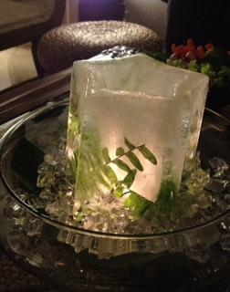 氷のキャンドル大