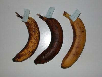 バナナの保存 保存状態7日目-1週間