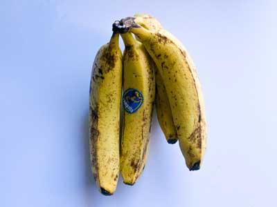 青いバナナ-室温5日目