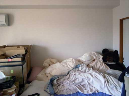 ベッド上収納タンスを設置する前