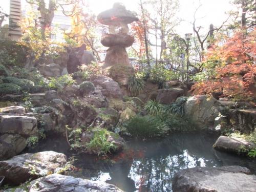 新宿サンパークホテルの庭園