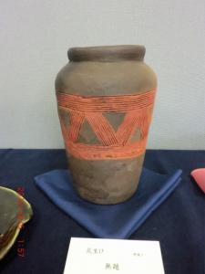 野焼きの壺