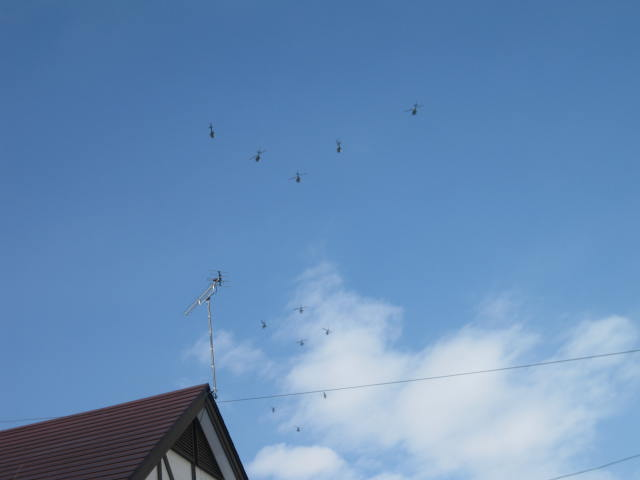 丘珠駐屯地編隊飛行訓練2014年初