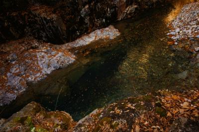 水底の奥深さ。