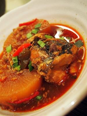 鯖と大根のコチジャン煮