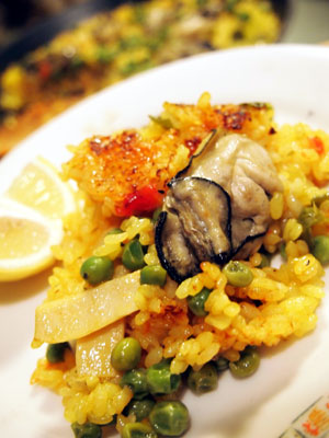 牡蠣のパエリャ