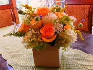 テーブルセンターのアレンジ