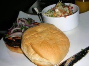 cafeのハンバーガー